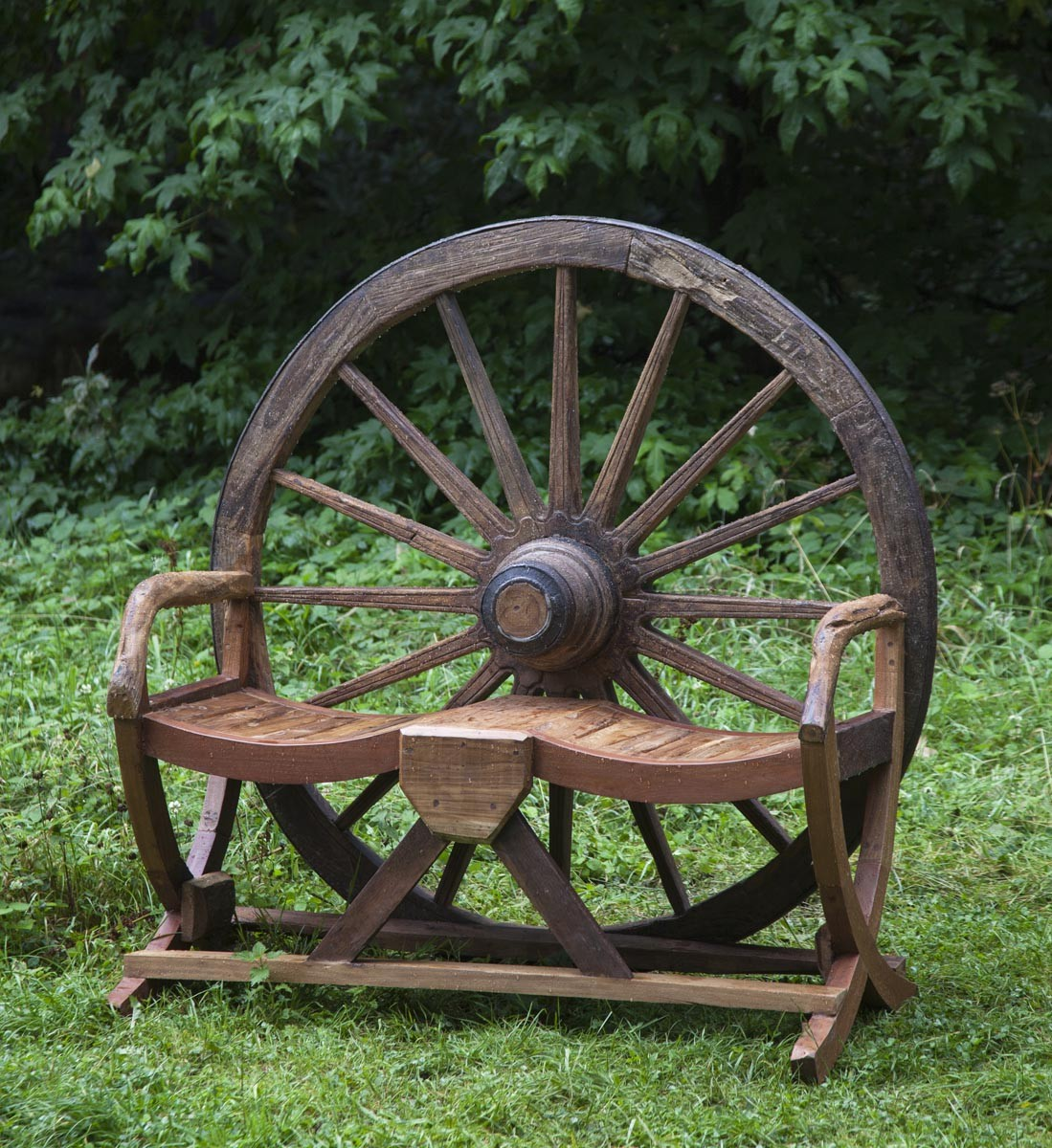 Cart Wheel Bench Cart Wheel Bench by Anon