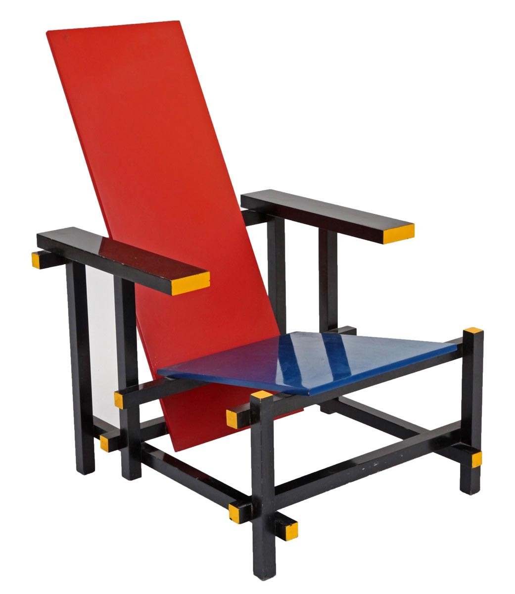 Gerrit rietveld chair for sale - Red And Blue Chair By Gerrit Thomas Rietveld
