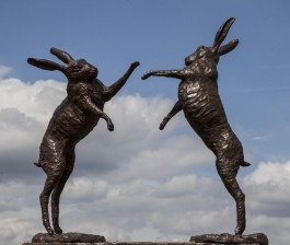 Boxing Hares by Anon Unknown