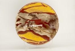 Raku Glazed Ceramic Platter by Bruce Chivers at The Sculpture Park