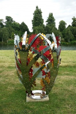Bud - red and gold by Ruth Moilliet at The Sculpture Park