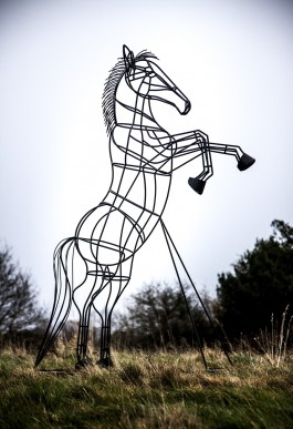 Rearing Horse by David Taylor Exhibit at The Sculpture Park