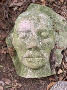 James Copper, Dreaming Head 1990, Clipsham Stone, Unique at The Sculpture Park