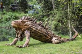 Giant Driftwood Iguana at The Sculpture Park