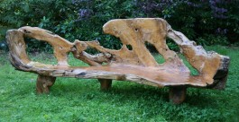 Large Carved Bench
