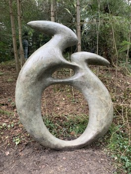 Boxing Hares by Lewie at The Sculpture Park