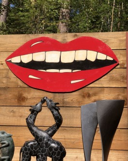 Big smiling Lips by Jenna Fox at The Sculpture Park