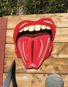 Lips 102 – Tongue out by Jenna Fox at The Sculpture Park