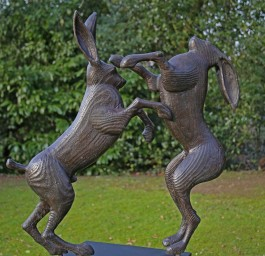 Boxing Hares by Martin Scorey