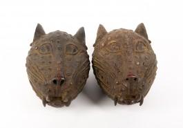 Pair of Cheetah Head Masks at The Sculpture Park