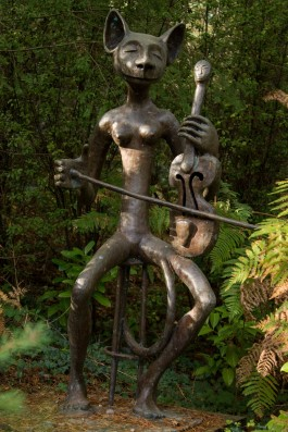 Quentin Clemence, The Cat & The Fiddle, Bronze, Unique at The Sculpture Park