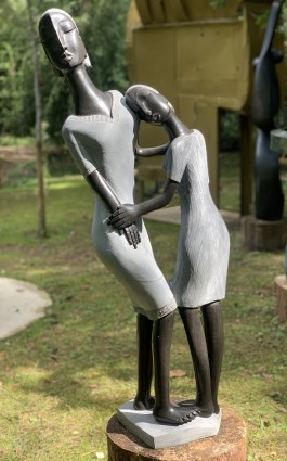 Sisterly Love by Rufaro Ngoma at The Sculpture Park