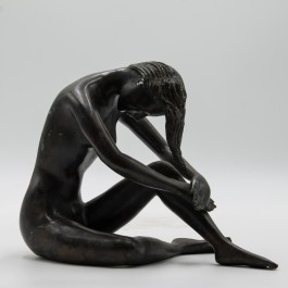 Anon, Sitting Woman, Bronze, The Sculpture Park