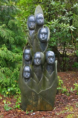 Mary, Joseph, Angels & Wiseman by Sylvester Mubayi at The Sculpture Park