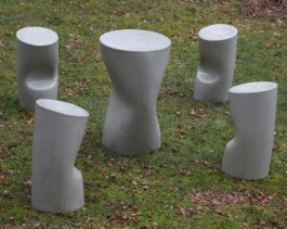 Table and Four Stools at The Sculpture Park