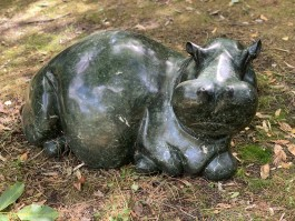 Relaxing Hippo by Timothy Rukodzi at The Sculpture Park