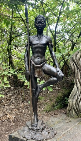 A Pair of African Warriors by John Cox at The Sculpture Park