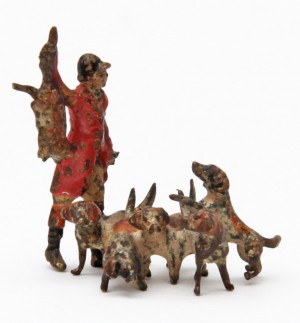 19th Century Hunter and Hounds with Kill