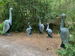 Guinea Fowl Family by Tendring Chipiri at The Sculpture Park