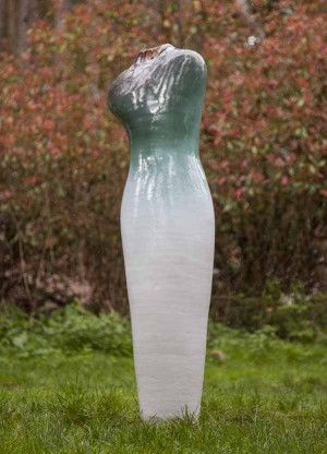 Green and White Dress by Andrew Flint at The Sculpture Park
