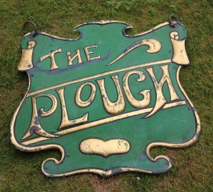 The Plough Double Sided 3 Dimensional Pub Sign at The Sculpture Park