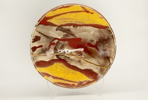 Raku Glazed Ceramic Platter by Bruce Chivers at The Sculpture Park