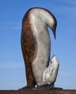 Mother and Chick by David Norris