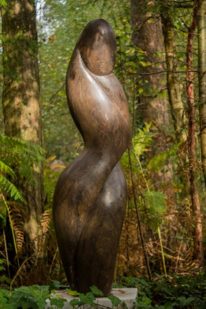 Emmanuel Changunda, Mystic Woman, Purple Schist, Unique at The Sculpture Park