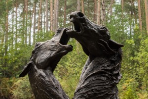 Enzo Plazzotta, Carmargue Horses, Bronze, From an Edition of 6 at The Sculpture Park