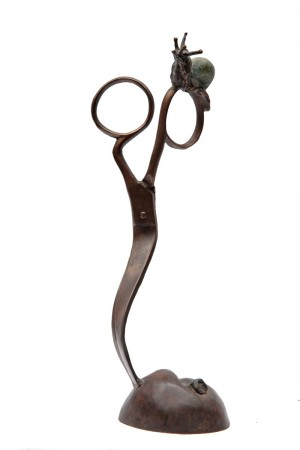 Snail on Scissors by Frank Edmunds