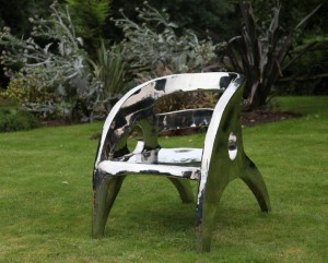 Stainless Steel Garden Armchair by The Sculpture Park
