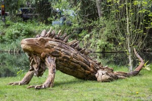 Giant Driftwood Iguana at The Sculpture Park