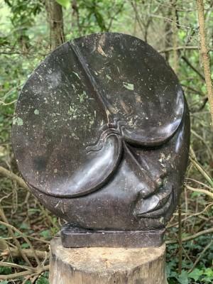 Man on the Moon by Godfrey Kurari at The Sculpture Park
