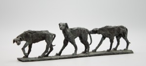 Bob Crutchley, Greyhounds, Bronze, The Sculpture Park