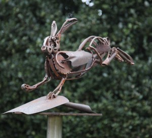 Hare on Shovel by Harriet Mead