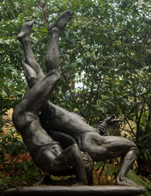Wrestlers by Ian Rank-Broadley at The Sculpture Park