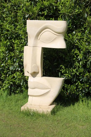 Head in Three Blocks by James Connolly at The Sculpture Park