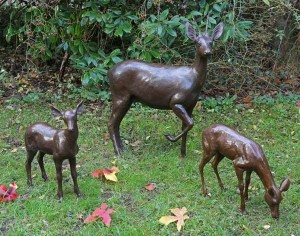 Buck & Two Fawns by John Cox at The Sculpture Park