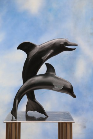 Leaping Dolphins by Anon. Unknown