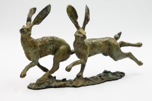 Running Hares by Linda Monk