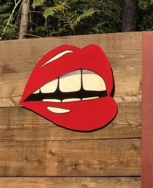 Lips 104 – Sideways smirk by Jenna Fox at The Sculpture Park
