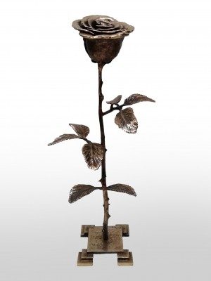 Lukasz Joniec, Rose, Unique, Bronze, 14 x 37 x 12 cm, £1800