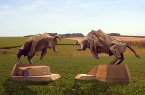 Bulls by Maria Bayardo at The Sculpture Park