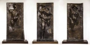 Emerging Figure Triptych, Executed in 1966 by Michael Ayrton (1921 - 1975)