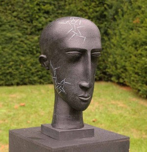 Black Head Lined by Patricia Volk at The Sculpture Park