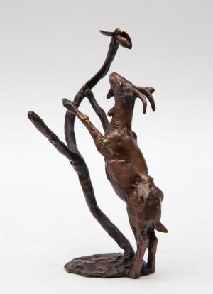 Goat Climbing Tree by Paul Jenkins