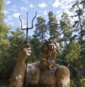 Anon, Poseidon, Composite Stone Resin & Steel at The Sculpture Park