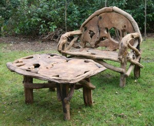 Root Bench and Table