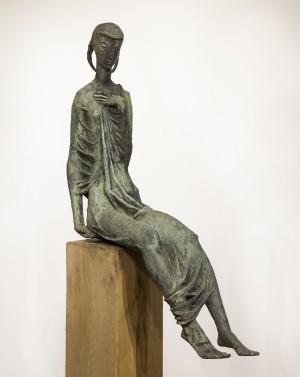 Thomas Bayliss Huxley Jones, (British, 1908-1969), Seated Female, Bronze, The Sculpture Park