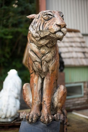 Tiger by Brendan Hesmondhalgh at The Sculpture Park